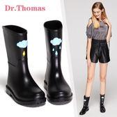 DR春夏中筒雨靴女成人水鞋時尚防水鞋果凍膠鞋套鞋防滑水靴雨鞋女 極度潮客
