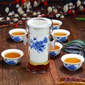 紅茶玻璃泡茶杯器功夫茶具套裝家用陶瓷茶壺喝茶藝辦公室德化白瓷 AW16775『男神港灣』