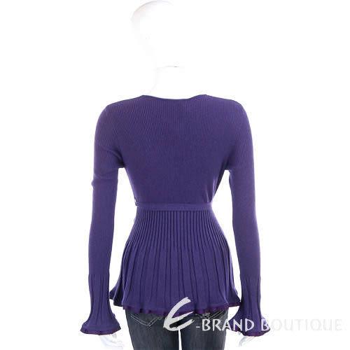 Love Sex Money 紫色荷葉抓摺造型綁腰外套 0840093-83