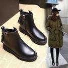 秋冬鞋女2019新款韓版學生chic馬丁靴女英倫風平跟加絨短靴保暖靴 降價兩天