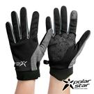 PolarStar 配色抗UV排汗短手套『黑』P21516 戶外.防曬手套.防風手套.機車手套.騎車手套.開車手套
