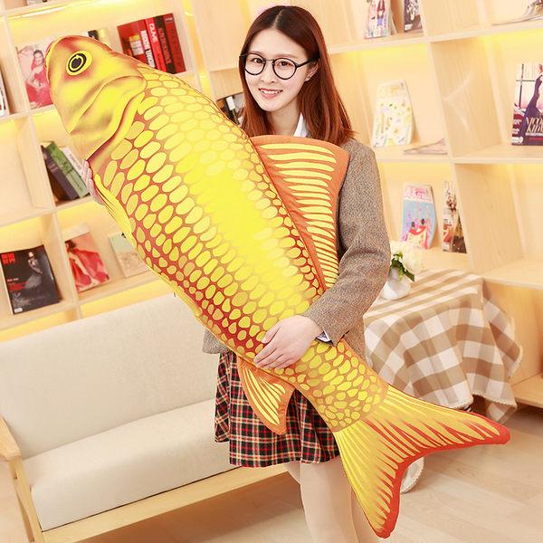 【03124】 140公分 錦鋰抱枕 鯉魚 生日禮物 聖誕節 交換禮物 過年 新年 整人