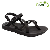 NAOT 女 夾腳型越野運動涼鞋 SHORE 38504X10【黑色】/ 城市綠洲 (織帶、輕量、快乾、抑菌)