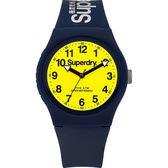 【台南 時代鐘錶 Superdry】極度乾燥 美式和風 文化衝擊潮流腕錶 SYG164UY 黃/藍 38mm