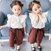 618好康鉅惠女寶寶襯衣白春裝兒童襯衣長袖小童春純棉