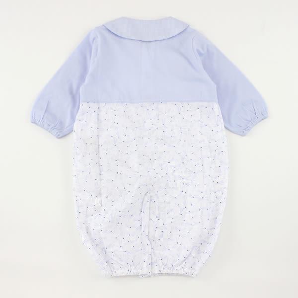 【愛的世界】純棉蜻蜓POLO領長袖兩用嬰衣/6個月-台灣製- ★幼服推薦
