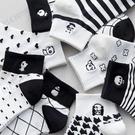 日系刺繡熊貓卡通動漫春夏短筒襪子學院風運動棉襪子潮