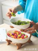 陶瓷水果盤客廳創意家用糖果干果盤玄關桌面收納盤茶幾水果籃果盤【帝一3C旗艦】YTL