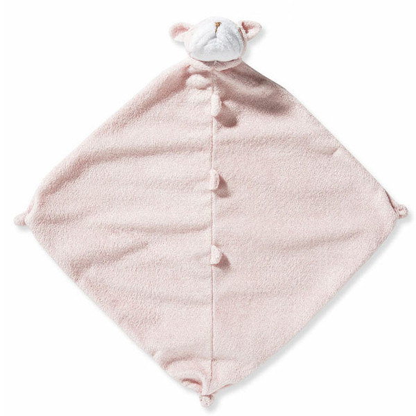 美國Angel Dear 動物嬰兒安撫巾 粉紅鬥牛犬