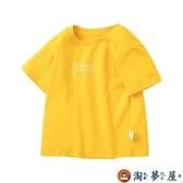 男童T恤女寶寶短袖T恤兒童上衣純棉短袖【淘夢屋】