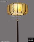INPHIC-現代新中式客廳餐廳臥室手繪布藝吊燈古典酒店茶樓圓形仿羊皮燈具-藍鳥直徑45高18_S3081C
