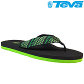 TEVA 超輕量舒適記憶鞋床織帶夾腳拖 Mush 2– 艦隊綠