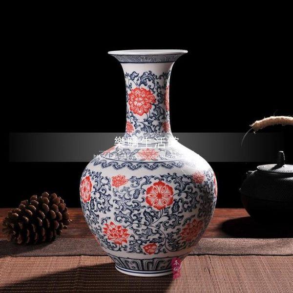 景德鎮花瓶/手工磨砂不上釉青花瓷花瓶LG-4330
