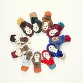 針織手套-羊毛可愛小鹿雙層加絨保暖女手套11色73or30【巴黎精品】
