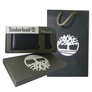 Timberland 黑色男性短夾 + 鑰匙圈、精美組 附原廠紙袋