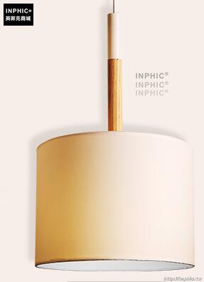 INPHIC- 北歐風格現代創意簡約臥室書房餐廳單頭木布藝燈罩個性吊燈-A款_S197C
