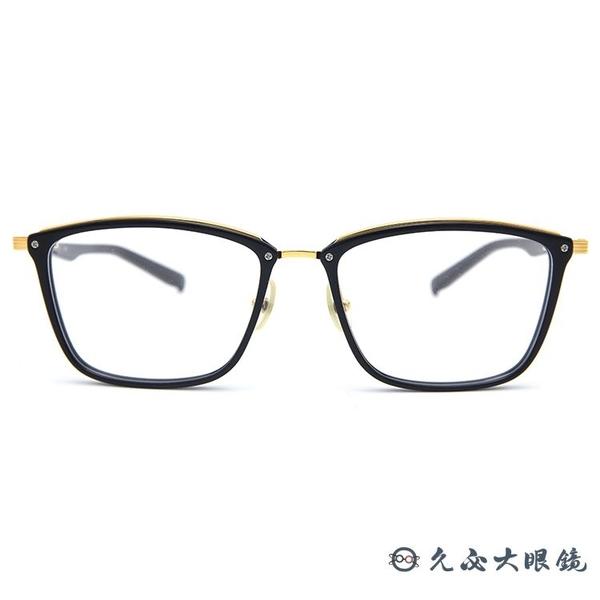 999.9 日本神級眼鏡 M100 (黑-金) 方框 近視眼鏡 久必大眼鏡