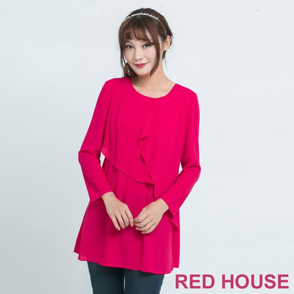 RED HOUSE-蕾赫斯-波浪長版上衣(共2色)