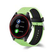 智慧手錶 6色智能手環手表V9 手表藍牙手表雙色表插卡通話手表電話-小精靈生活館
