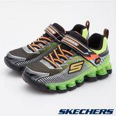 Skechers 綠/黑色 Flashpod 閃燈 魔鬼氈 運動鞋 男童鞋 NO.R1322