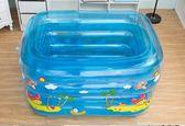 嬰兒游泳池保溫嬰幼兒童充氣戲水池寶寶洗澡桶家用大號新生兒浴盆 igo  酷男精品館