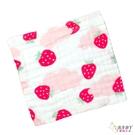 六層紗布巾 手帕小方巾 五入組 甜蜜小草莓 (嬰兒/幼兒/寶寶/新生兒/baby/兒童)