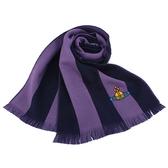 Vivienne Westwood星球logo撞色條紋純羊毛圍巾(紫色)910542-4