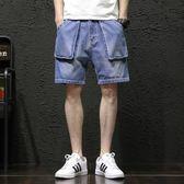大碼牛仔短褲夏季原宿風男士寬松薄款潮流五分褲 CF257【棉花糖伊人】