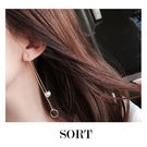 耳環 長款垂墜珍珠 韓系氣質簡約圓環 垂吊式長款耳飾耳環【1DDE0044】