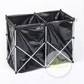 Go Sport 分類垃圾鐵架 附10pcs垃圾袋 45272  折疊架 分類架 【易遨遊戶外用品】