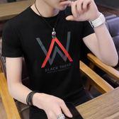 短袖T恤男士韓版潮牌體恤血夏季青年個性半截袖打底衫夏裝上衣服 東京衣櫃