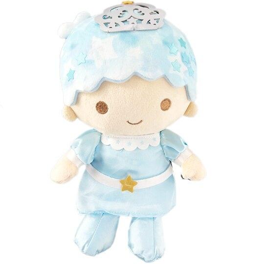 小禮堂 雙子星KIKI 絨毛玩偶 絨毛娃娃 布偶 (M 藍 45週年) 4901610-05639