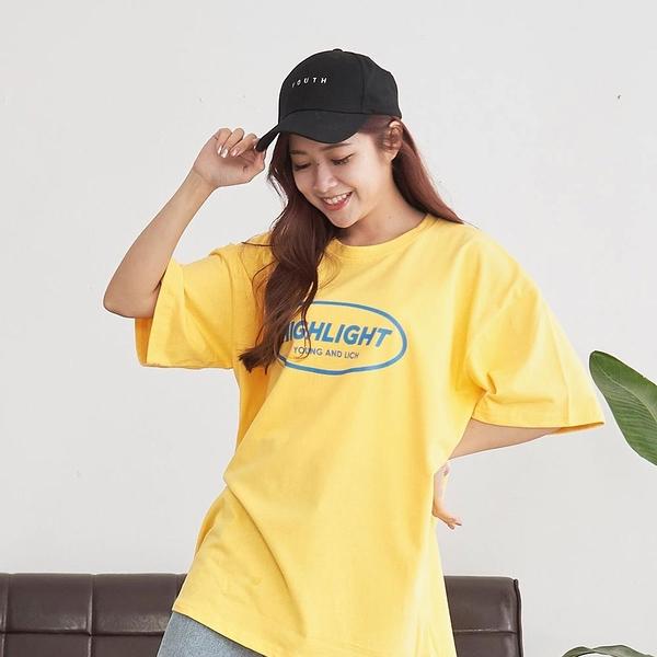 韓國女裝 Highlight撞色英文拼字短袖T恤【C1070】
