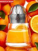 榨汁器手動榨汁機迷你家用水果小型榨汁杯德國便攜玻璃榨汁機 艾維朵