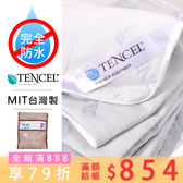 CP值版/特大 涼感天絲真防水[雙層]保護抗汙床包保潔墊.認證防螨.Dintex TD (A-nice)