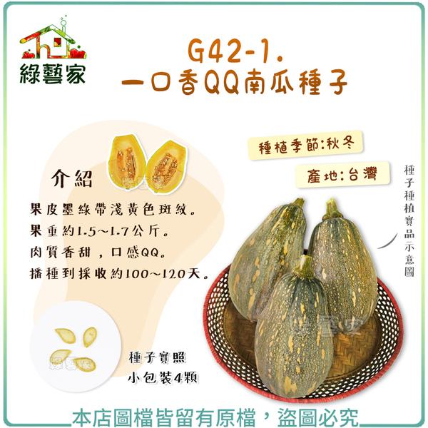 【綠藝家】G42-1.一口香QQ南瓜種子4顆