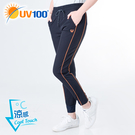 UV100 防曬 抗UV-涼感跳色出芽彈力縮口褲-女