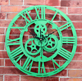歐式仿古齒輪掛鐘(玉綠色)