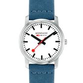 MONDAINE 瑞士國鐵 超薄系列腕錶-36mm/藍 40016BD