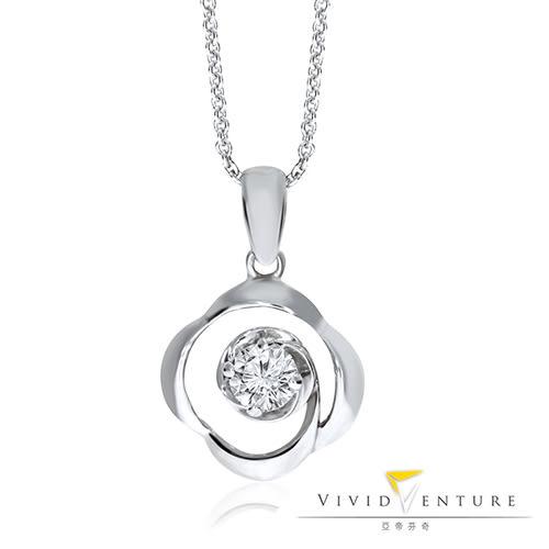 鑽石項鍊 0.18克拉 14K金 亞帝芬奇 夢想漣漪
