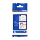 Brother TZe-FAE3 燙印 布質標籤帶 12mm 粉紅布藍字