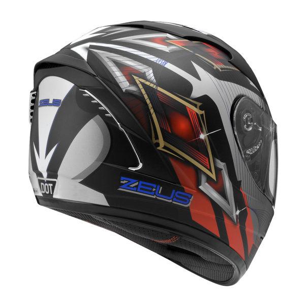 ZEUS 瑞獅安全帽,ZS-806F,II58/消光黑紅藍