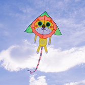可愛動物三角風箏造型身體(全配/附150米輪盤線)【888便利購】