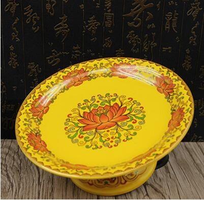 佛教用品菩薩供盤 供佛水果盤 陶瓷供果盤