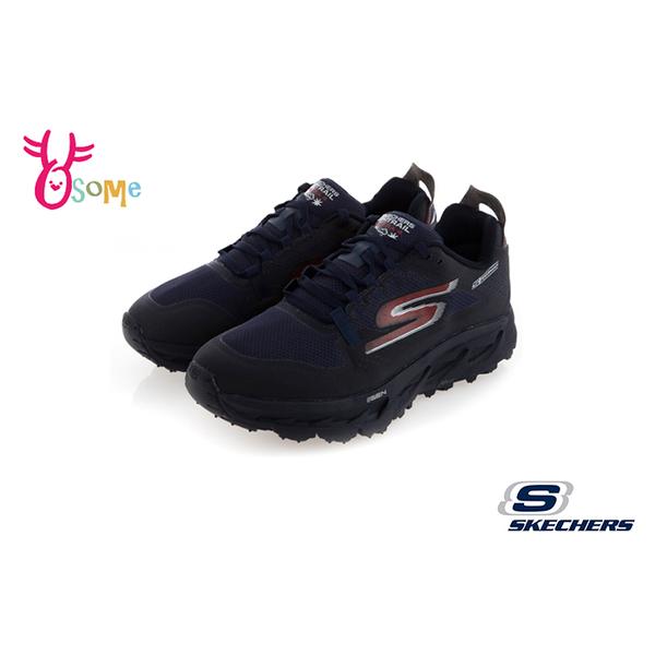 Skechers運動鞋 男鞋 GO TRAIL ULTRA 4防潑水運動鞋 足弓 慢跑鞋 S8206#黑藍◆OSOME奧森鞋業