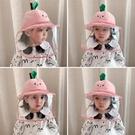 兒童防護帽疫情防飛沫唾沫嬰兒漁夫帽寶寶帽子隔離帽遮陽帽男女童