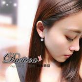 耳環 現貨 韓國 百搭 超閃亮 簡約 單鑽 後掛 鋯石 2用 耳針 S91817 Danica 韓系飾品 韓國連線