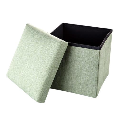 耐重款沙發椅摺疊收納凳38x38x38CM