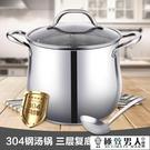 湯鍋304不銹鋼 加厚家用大容量熬煮粥煲湯鍋具燉鍋燃氣電磁爐通用【極致男人】