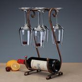 創意紅酒杯架倒掛紅酒架擺件葡萄酒架酒瓶架子紅酒杯架倒掛 家用